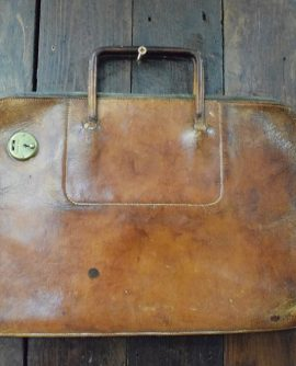 Vintage Tan Leather Document Case