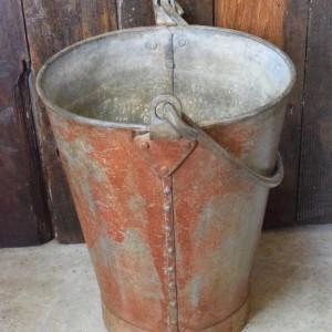 Vintage Galvanised Fire Bucket