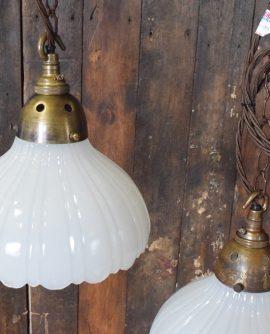 Moonstone/Opaline White Glass Pendant Lights