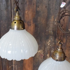 Moonstone/Opaline White Glass Pendant Lights