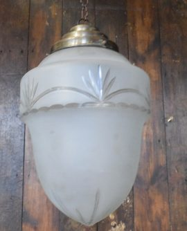 Vintage Medium Sized Frosted Glass Acorn Light