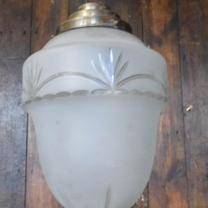 Vintage Medium Sized Frosted Glass Acorn Light