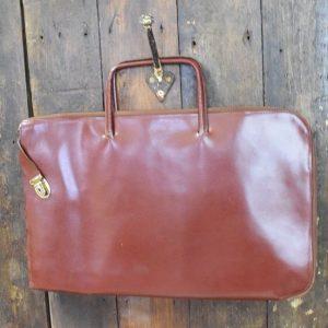 Vintage Zip up Leather Document Holder/Case