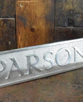 Parsons Original Chrome Factory Sign