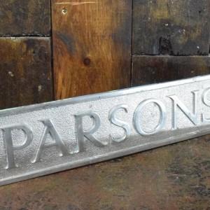 Parsons Original Chrome Factory Sign