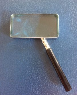 Vintage Rectangular Magnifying Glass