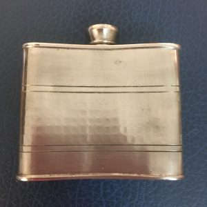 Vintage Pewter Hip Flask