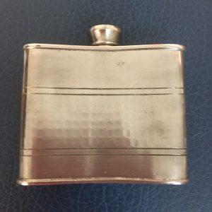 Vintage Pewter Hip Flask