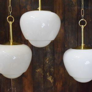 Medium Vintage Opaline Pendant Lights