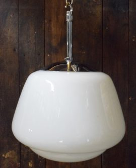 Medium Vintage Opaline Pendant Light