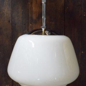 Medium Vintage Opaline Pendant Light