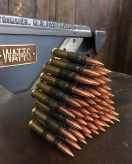 Belt of .303 Browning Machine Gun Bullets (inert)