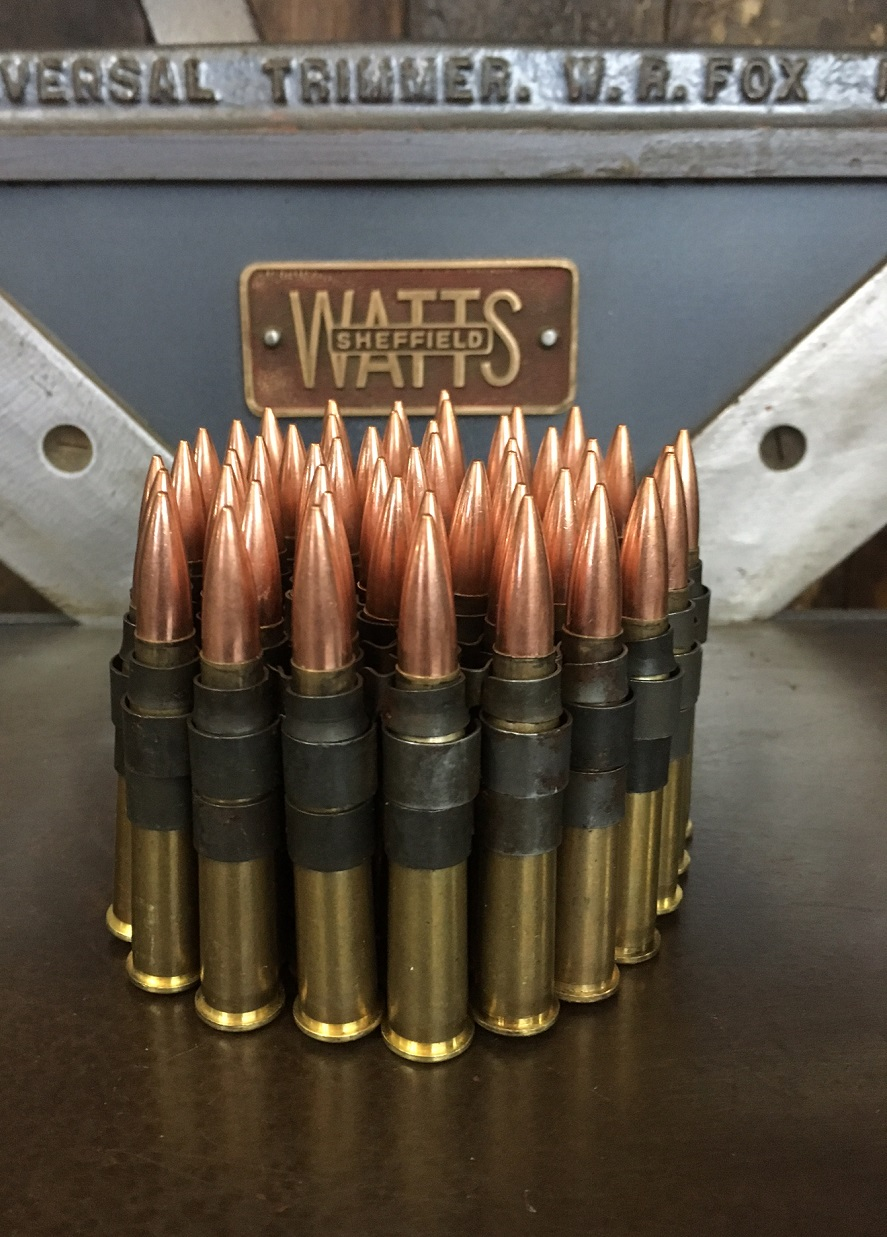 Belt of 50 .303 Browning Machine Gun Bullets (inert ...