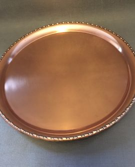 Antique Copper Drinks/serving Tray