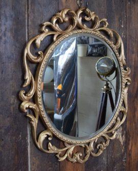 Vintage Round Rococo Mirror