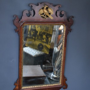 Georgian Fretwork Mirror with Gilt Detail and HoHo Bird