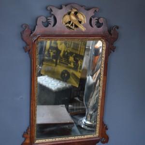 Georgian Fretwork Mirror with Gilt Detail and HoHo Bird