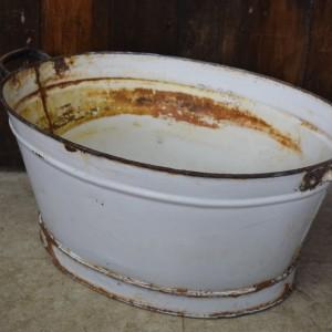 Vintage Enamel Baby Bath