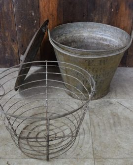 Vintage Egg Preserving Pail/Bucket