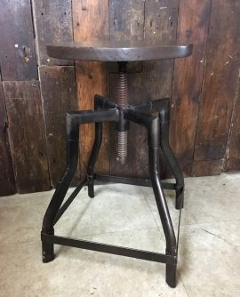 Low Industrial Stool with Swivel Top