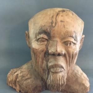 Decorative Carving in wood of a Eastern Gentleman's Head & Shoulders