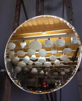 6656 Round Art Deco Mirror