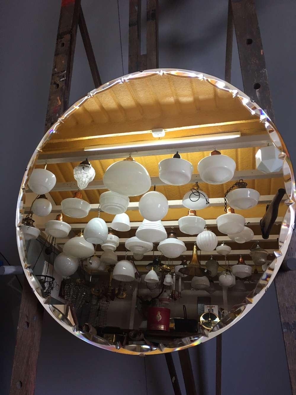 6656 round art deco mirror