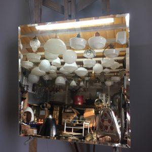 6681 square frameless mirror
