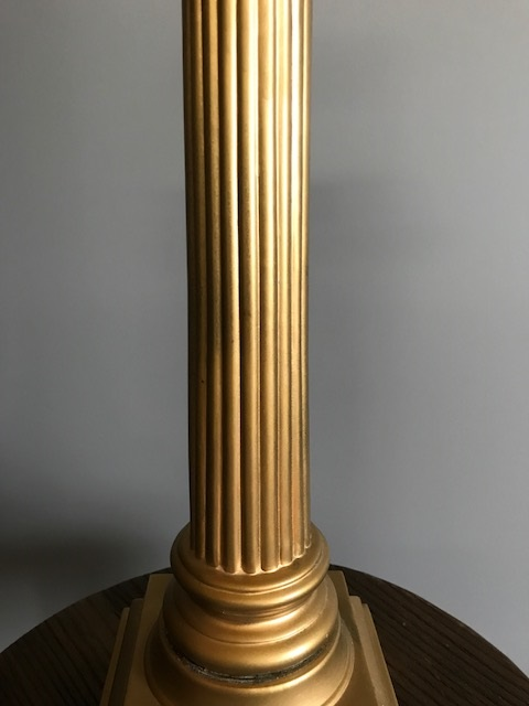 Gold Corinthian Column Lamp Sold