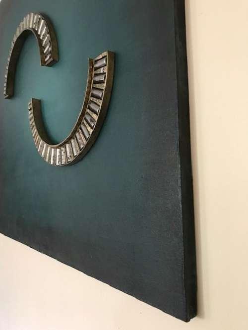Bearing Curve Aero Wall Art Featuring Wwii Era Propeller
