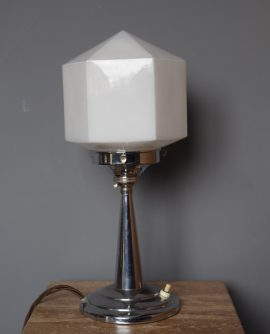 chrome art deco lamp
