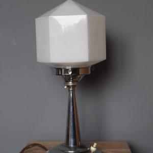 chrome art deco lamp