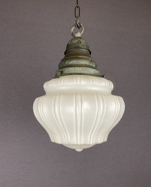edwardian white glass pendant light