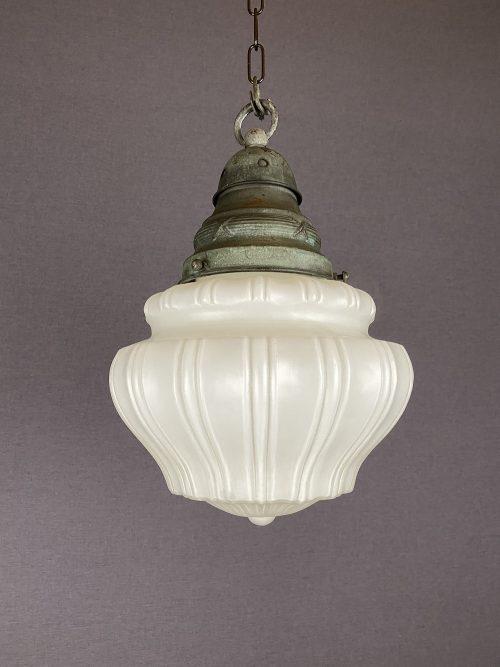 edwardian white glass pendant light