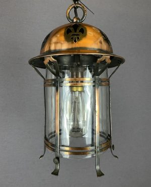 copper art nouveau lantern