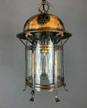 copper art nouveau lantern