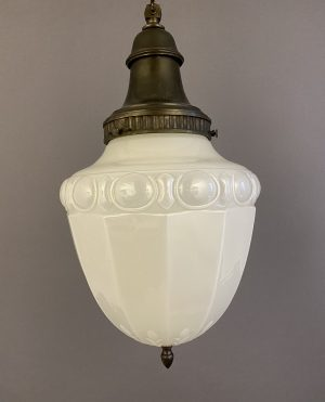 XL vaseline glass pendant light
