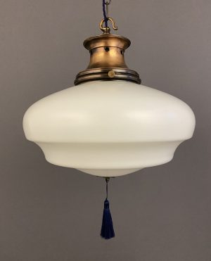 edwardian satin glass pendant light