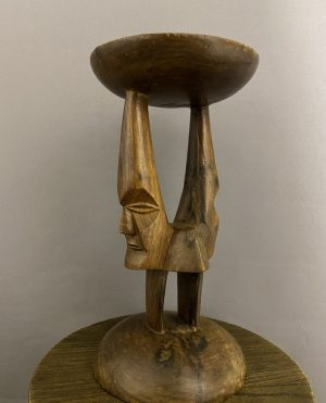 african hard wood plant stand