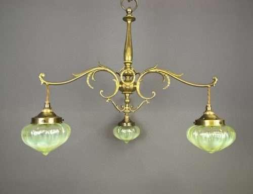 art nouveau chandelier