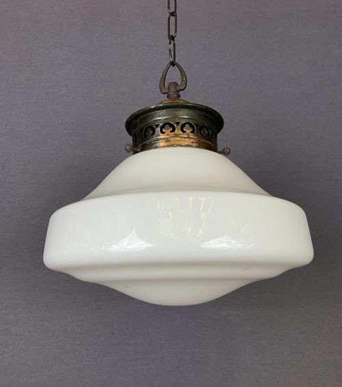art deco opaline pendant light