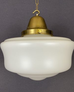 art deco satin white glass light