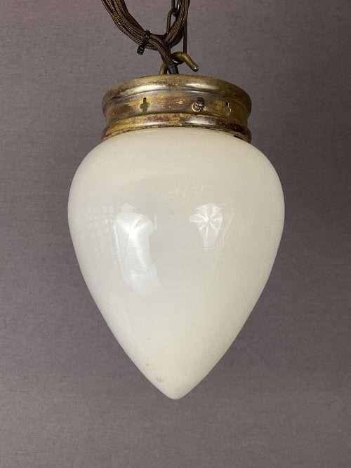 vintage white glass acorn shade