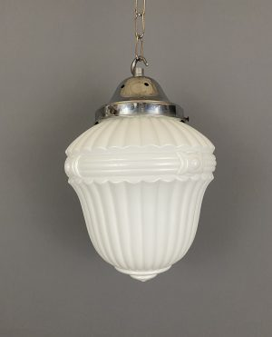 satin glass pendant light