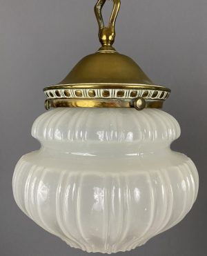 edwardian vaseline glass light