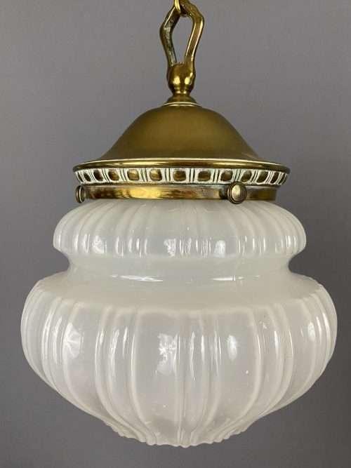 edwardian vaseline glass light