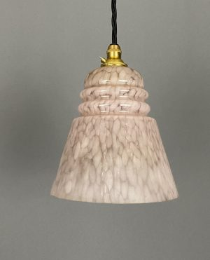 pink marble art deco light