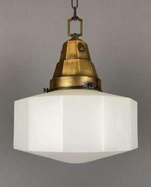 twelve sided opaline pendant light