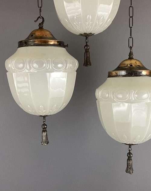 vaseline glass art nouveau light