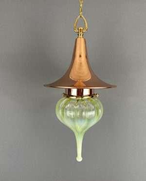 vaseline glass pendant light